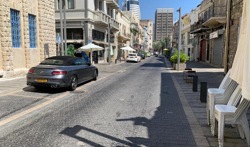 מדרחוב נתנזון, היום (צילום: חגית הורנשטיין)