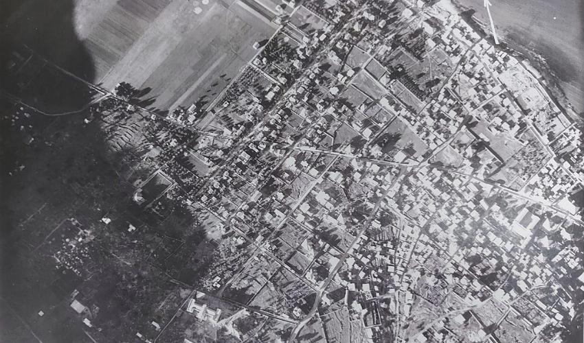 צילום אווירי של חיפה, ינואר 1945