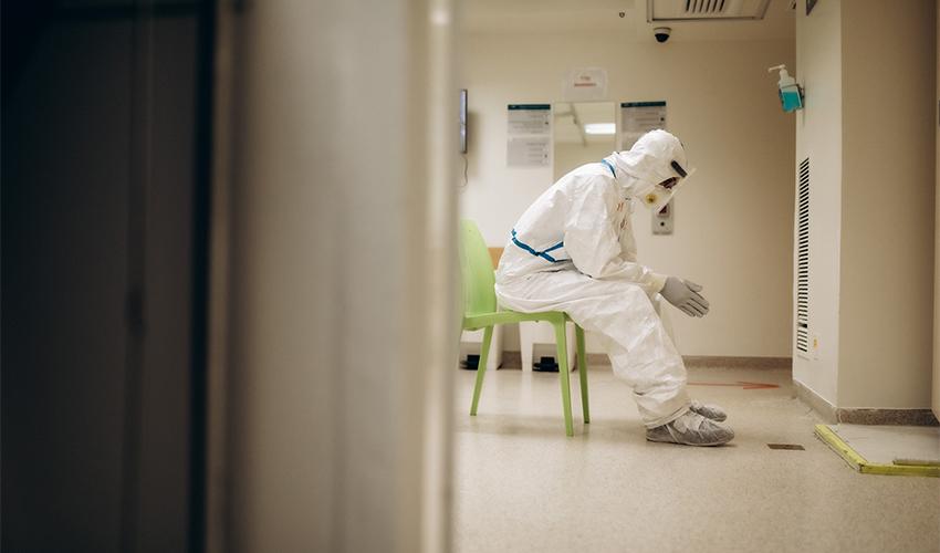 הקורונה במרכז הרפואי בני ציון (צילום: מיכה בריקמן)