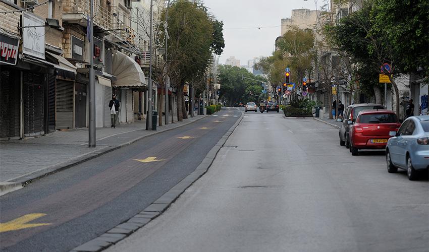 רחובות חיפה ריקים בסגר הקודם (צילום: רמי שלוש)