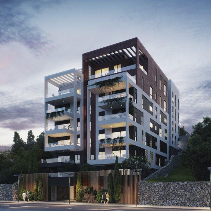 פרויקט היוקרה תל מאנה 56 בחיפה של קבוצת כפיר. הדמיה 3DVision, באדיבות קבוצת כפיר