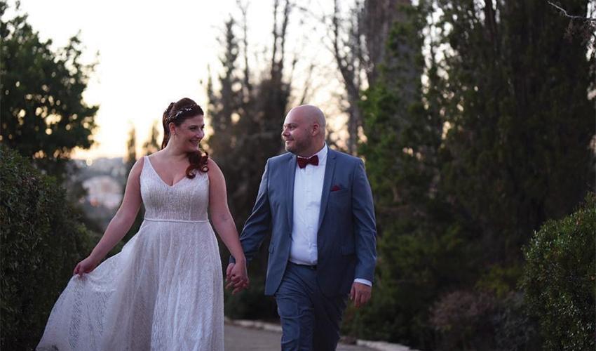 """מיכל מאי בן ארצי ובעלה אלון. """"הוא המתנה הכי טובה שקיבלתי בחיים"""" (צילום: דורי אהרון)"""