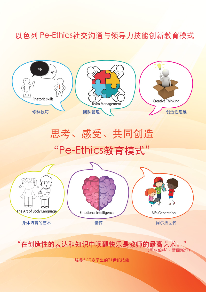 הפלאייר של מודל פה-אתיקה בסינית