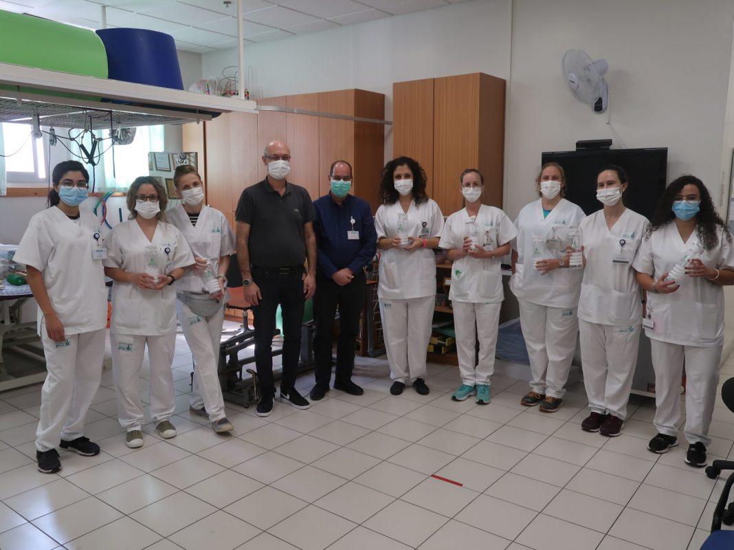 צוות המכון בעיסוק במרכז הרפואי בני ציון. צילום: מחלקת שיווק, המרכז הרפואי בני ציון