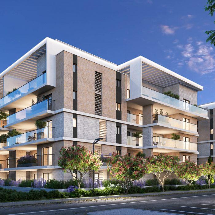 השכונה הפרטית KFIR YAM בקרית ים: מהרו לרכוש דירה בפרויקט המסקרן. הדמיה: olin