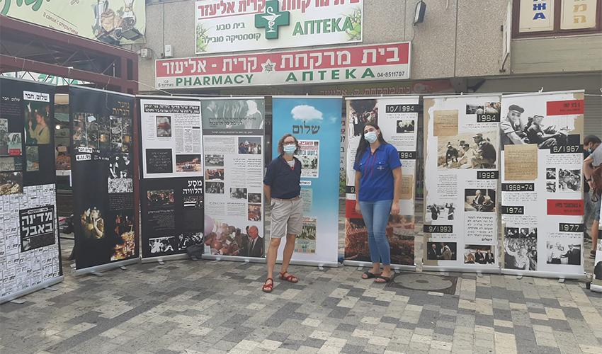 """התערוכה """"אוהל זכור"""" בכיכר מאירהוף (צילום: אור נעמתי)"""