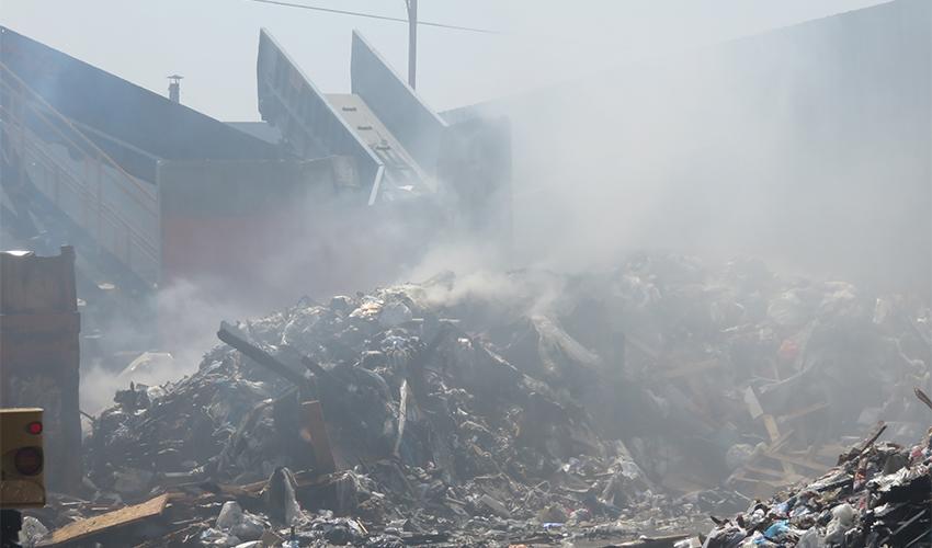 האתר של חברת א.ניר באזור התעשייה קרית אתא (צילום: דוברות המשרד להגנת הסביבה)
