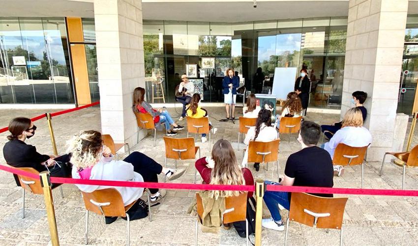 סדנה לתיכוניסטים בתיאטרון העירוני (צילום: דוברות עיריית חיפה)