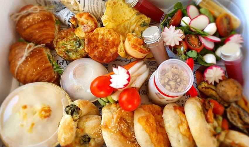 מארז ארוחת בוקר של שירלי ודוד פרץ (צילום: שירלי פרץ)