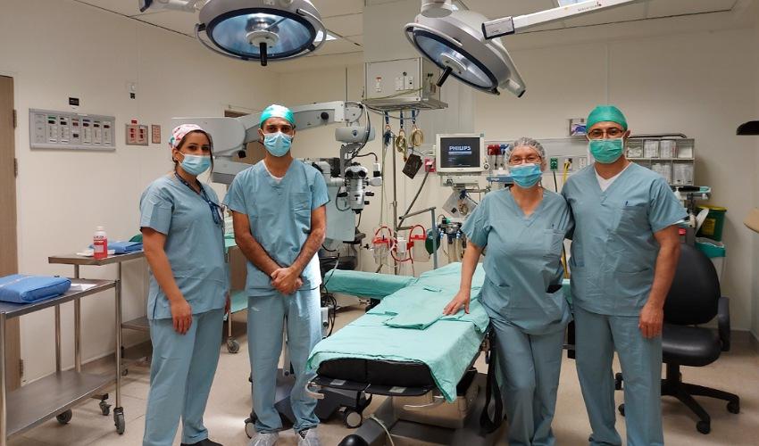 צוות מחלקת האורולוגיה במרכז הרפואי לין (צילום: דוברות שירותי בריאות כללית)