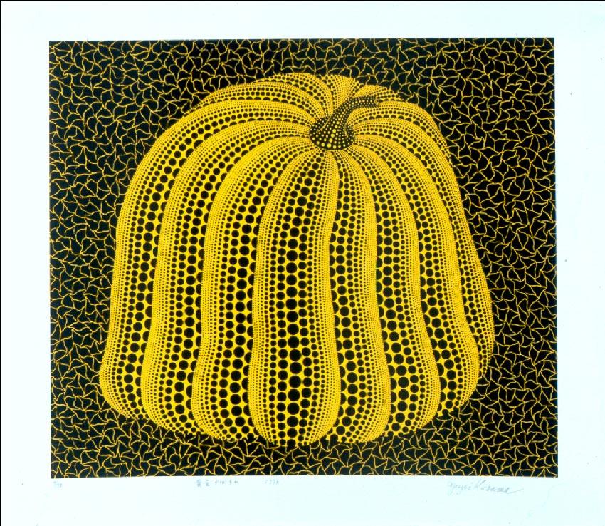 """העבודה """"דלעת צהובה"""" של יאיוי קוסאמה"""