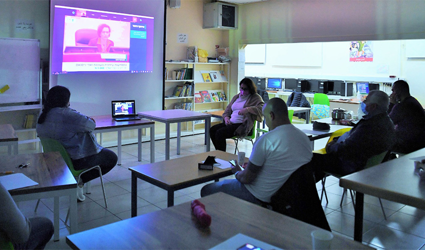מפגש שיתוף הציבור שבו הוצגה תוכנית ההתחדשות העירונית לוואדי ניסנאס (צילום: ראובן כהן, דוברות עיריית חיפה)