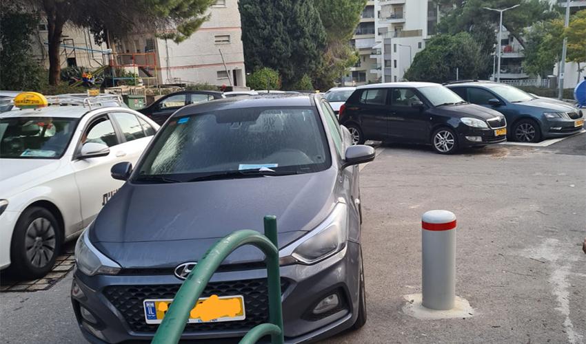רכב שקיבל דוח ברחוב חביבה רייך