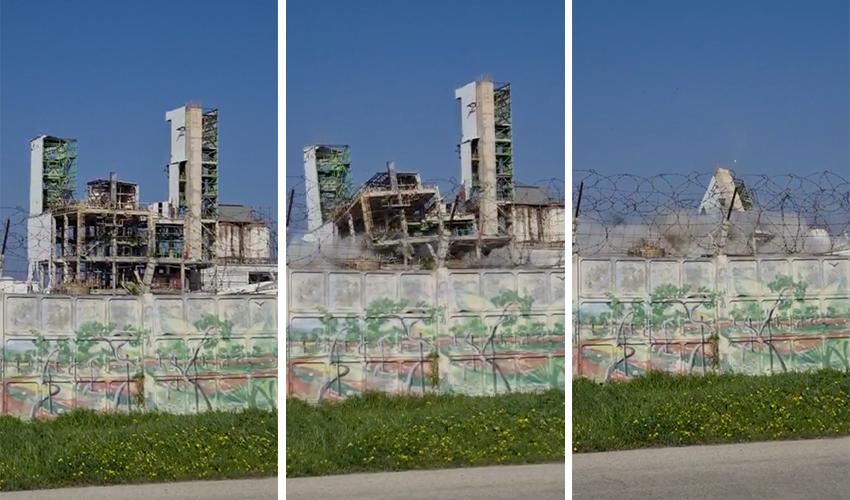 פיצוץ המתקנים הישנים של חיפה כימיקלים (צלם לא ידוע, שימוש לפי סעיף 27א' לחוק זכויות יוצרים)