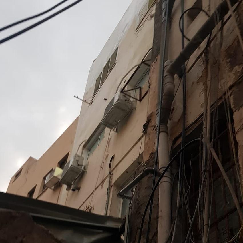 המבנה ברחוב כיאט (צילום: דוברות שירותי הכבאות וההצלה)