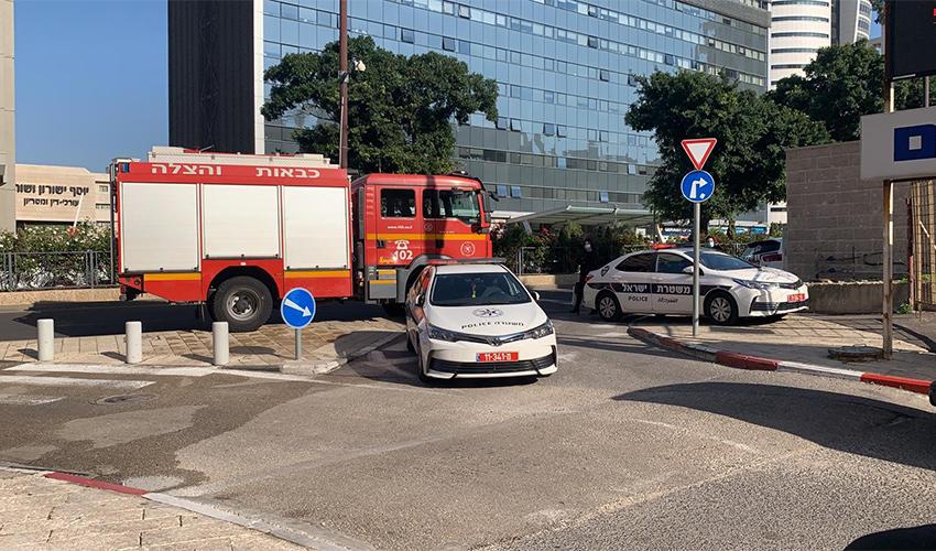 חסימת התנועה בשדרות פל-ים (צילום: דוברות משטרת ישראל)