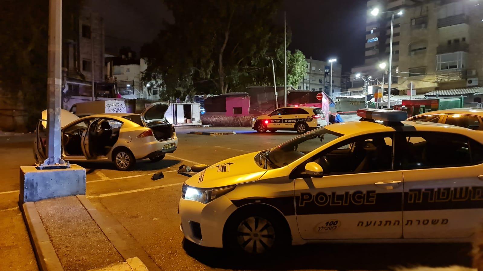 זירת הפיצוץ בשוק תלפיות (צילום: דוברות משטרת ישראל)