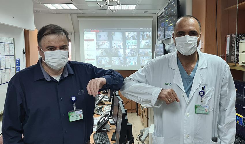 """פרופ' ערן בן אריה וד""""ר סמיר קאסם (צילום: אלי דדון)"""
