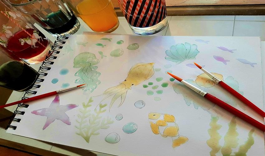 ציור חיות בצבעי מים טבעיים (צילום: תמר גורקה קליינר)