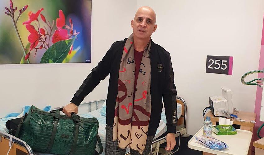פאדי נג'אר משתחרר מבית החולים