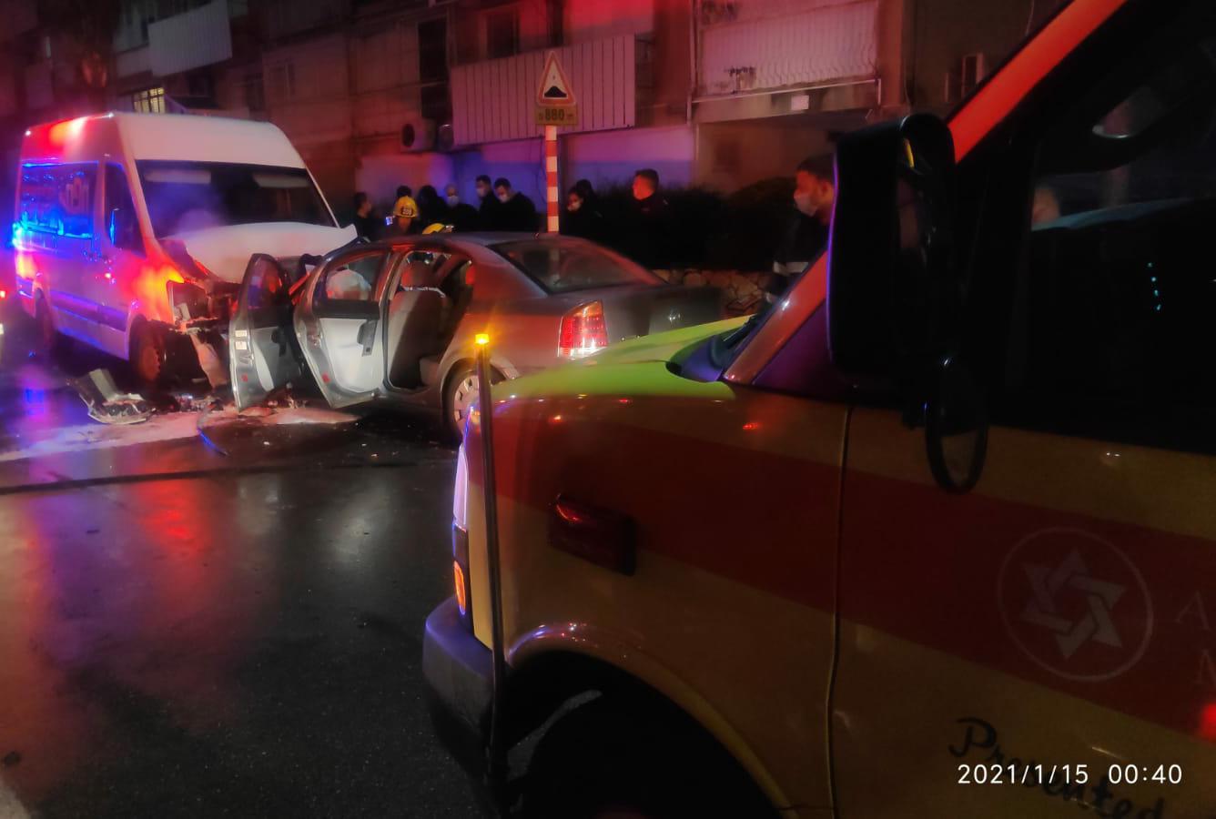 """זירת התאונה בקרית מוצקין (צילום: תיעוד מבצעי מד""""א)"""