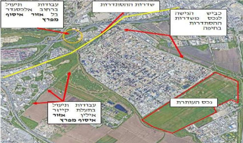 """השטח של תש""""ן שעמד במרכזה של המחלוקת (צילום מתוך העתירה שהגישה חברת תש""""ן)"""