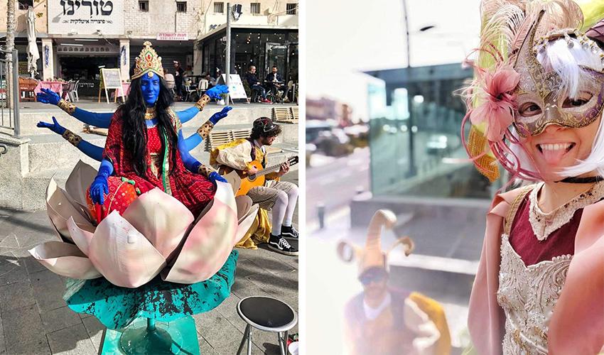 פורים בחיפה (צילומים: דוברות עיריית חיפה)