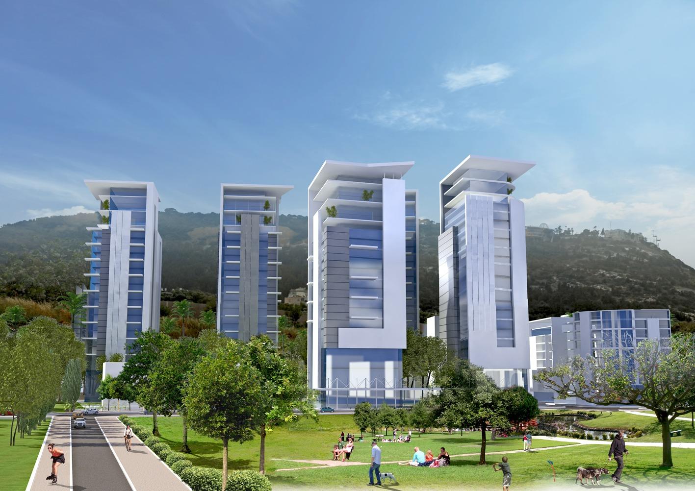 660 דירות חדשות בבנייה מגוונת. רחוב העלייה בבת גלים. קרדיט צלם: הדמיה: קנפו כלימור אדריכלים