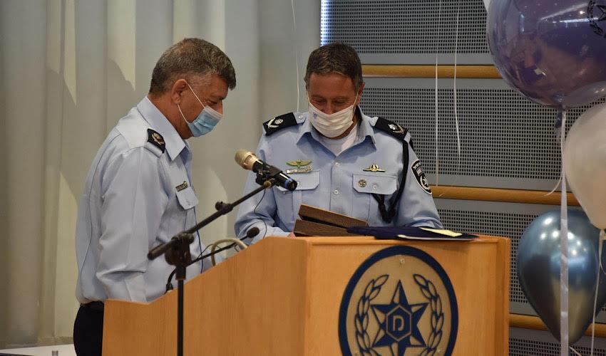 טקס חילופי המפקדים (צילום: דוברות משטרת ישראל)