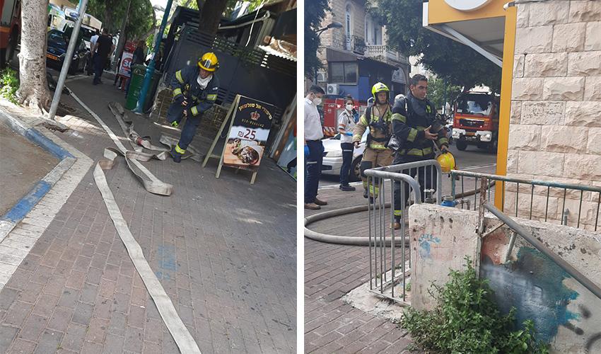 זירת השריפה בהדר (צילומים: דוברות שירותי הכבאות וההצלה)