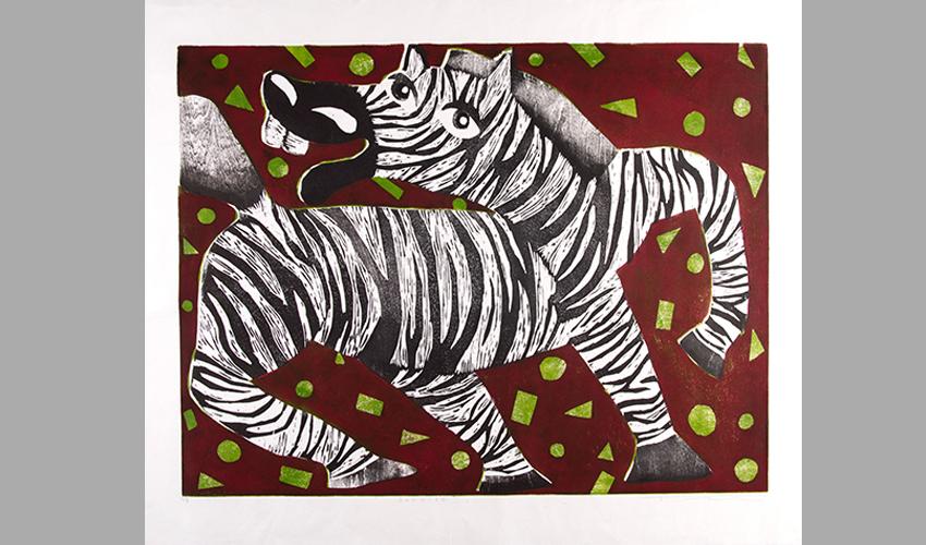 """""""זריחה"""" של טסוצ'יה מיסה מתוך התערוכה """"קנראקי"""" במוזיאון טיקוטין (צילום: סטס קורולוב)"""