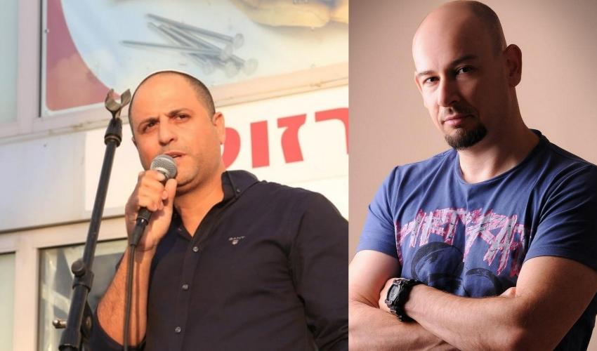 מימין: מיכאל גורין, שלומי קדוש (צילומים: קרן גיגי, רגעים)