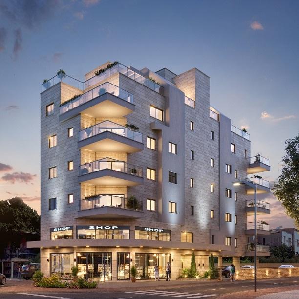 """בניין בוטיק עם תשע דירות בסך הכל. פרויקט """"לב הקריה"""" (הדמיה: חברת חיים רוזנר)"""