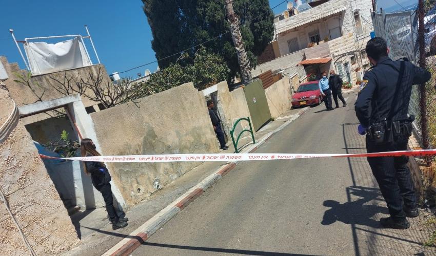 זירת אירוע הירי בחיפה (צילום: דוברות המשטרה)