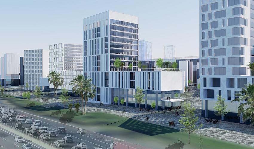 שער עלייה (הדמיה: משרד אירית צרף נתניהו - אדריכלות ובינוי ערים)