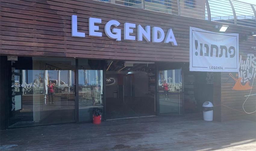 הסניף החדש של לג'נדה בחוף מרידיאן (צילום: חגית הורנשטיין)