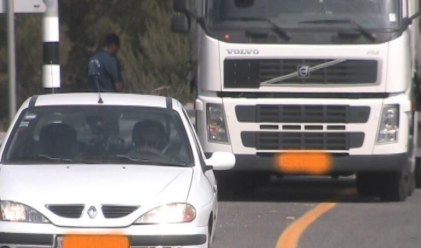 פצצה מתקתקת. רכב כבד בכבישים (צילום: אור ירוק)