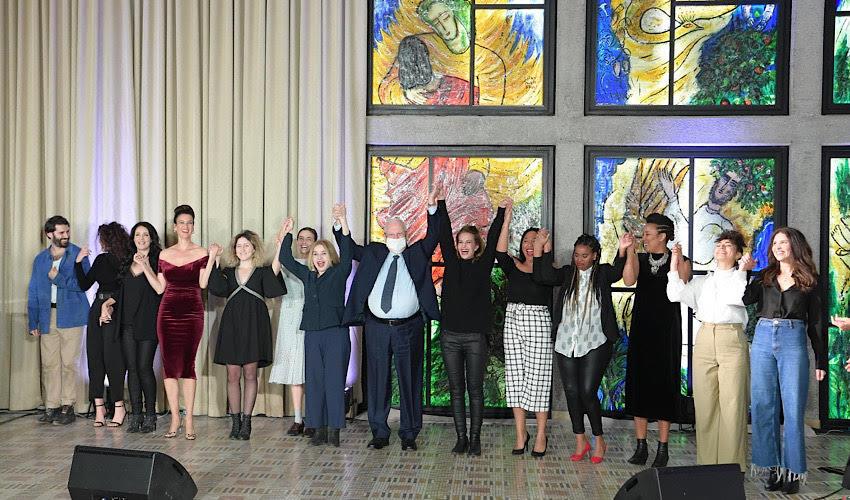 """משתתפי האירוע בבית הנשיא (צילום: עמוס בן גרשום, לע""""מ)"""