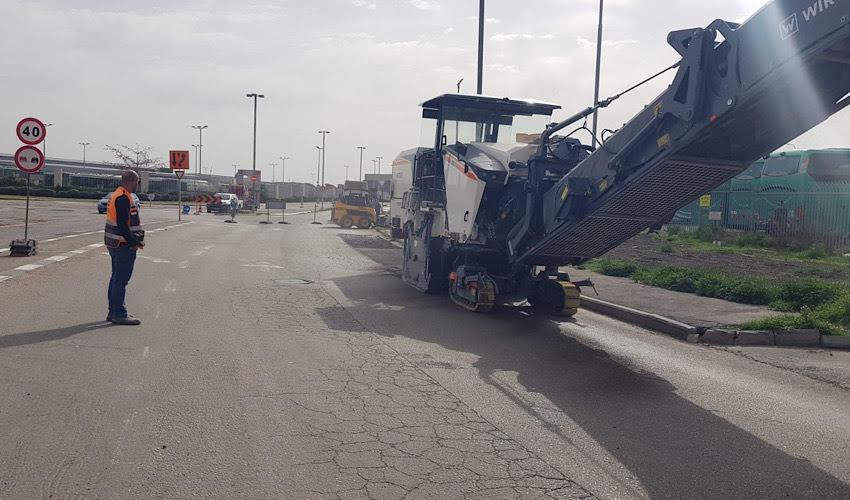 העבודות לשיקום כביש יוליוס סימון (צילום: חברת נמלי ישראל)