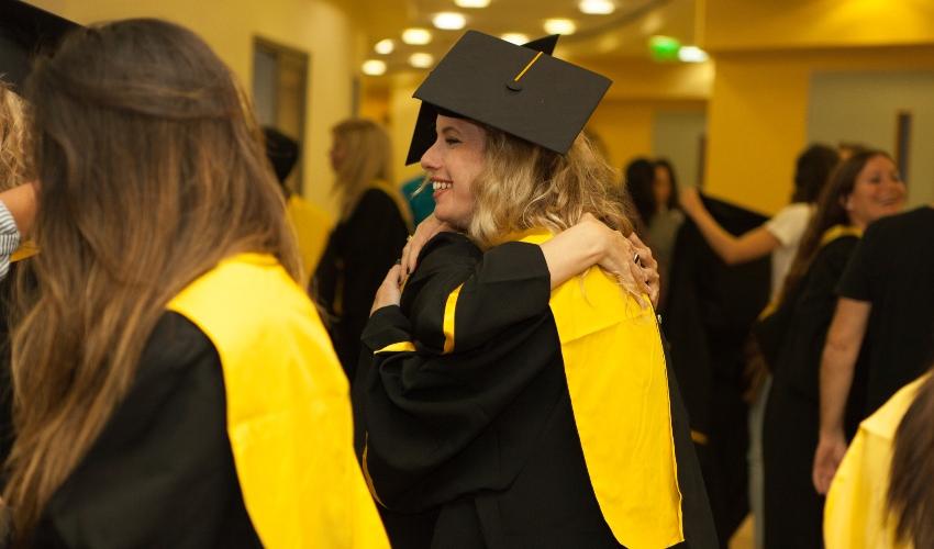 טקס סיום של בוגרי תואר שני באקדמית עמק יזרעאל (צילום: ליאור ג'ורנו)