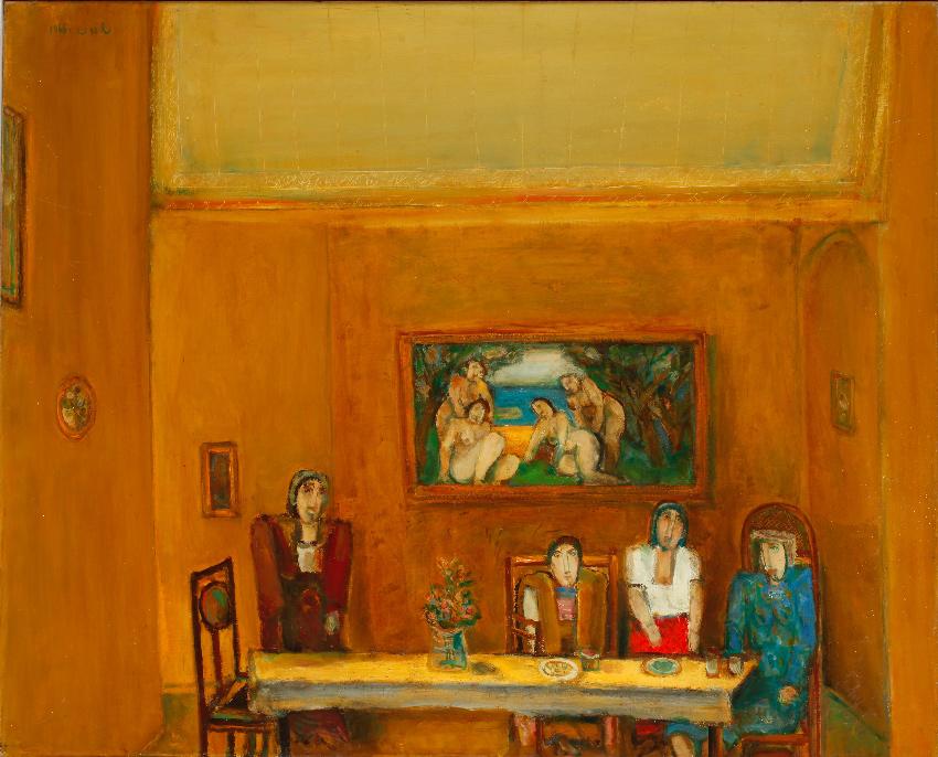ציור של שמואל בונה (צילום: אברהם חי)