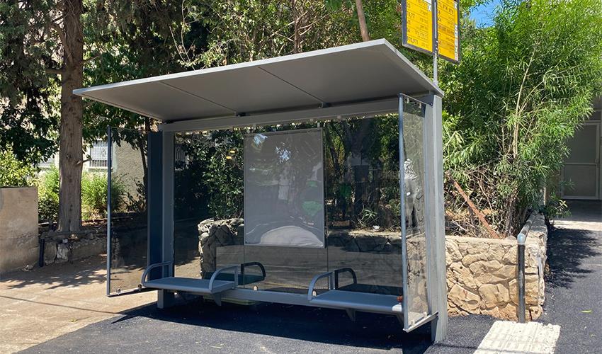 תחנת אוטובוס חדשה (צילום: ראובן כהן, דוברות עיריית חיפה)