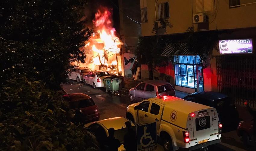 שריפה בחנות ברחוב מסדה