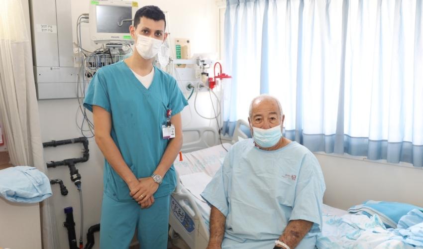 """חנוך שיינר, בן 74, שבגופו הושתלה כליה (צילום: דוברות רמב""""ם)"""
