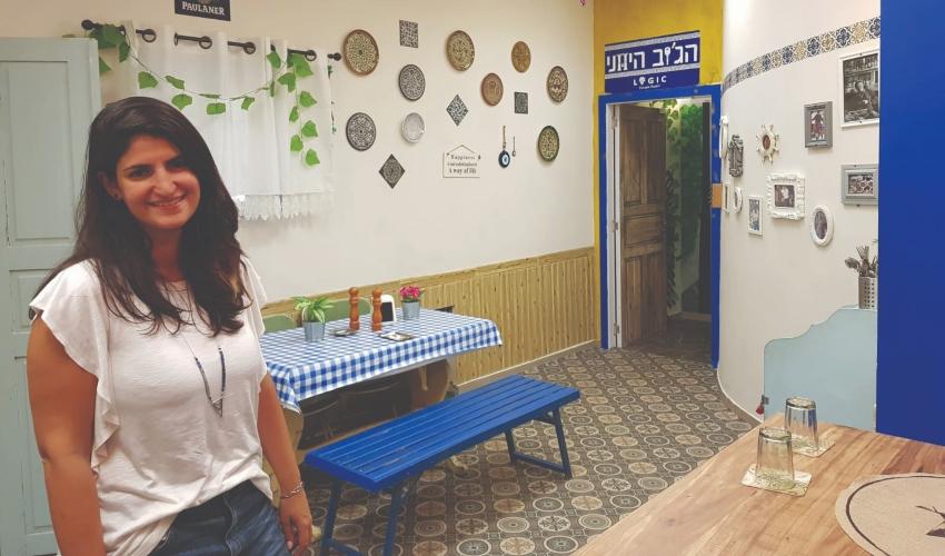 אביטל חן בחדר הבריחה (צילום: הג׳וב היווני)