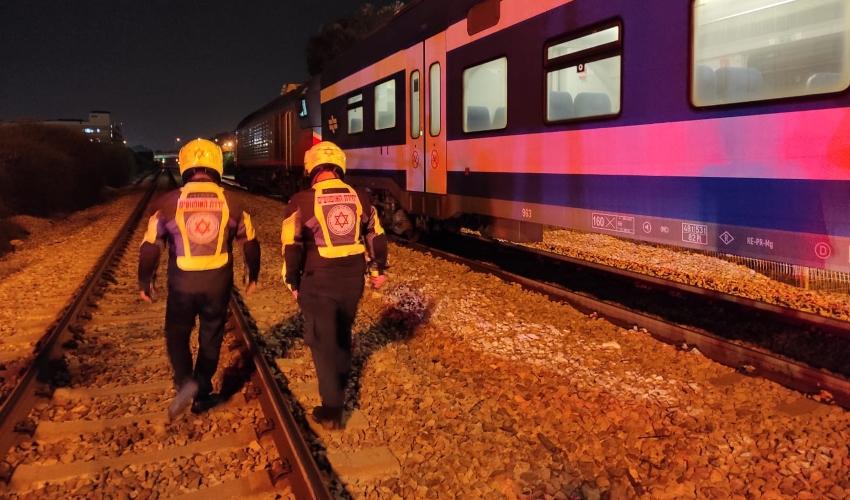 """הרוג מפגיעת רכבת בקרית חיים (צילום: תיעוד מבצעי מד""""א)"""