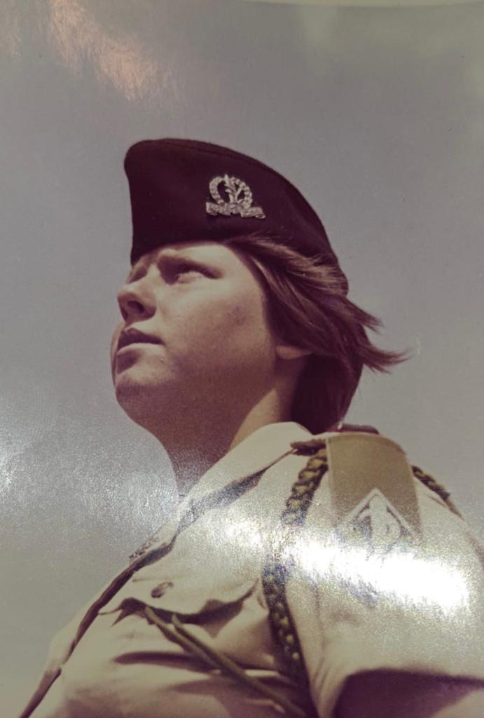 1970. חדוה אלמוג מ״מ במחנה 80 (צילום: באדיבות חדוה אלמוג)