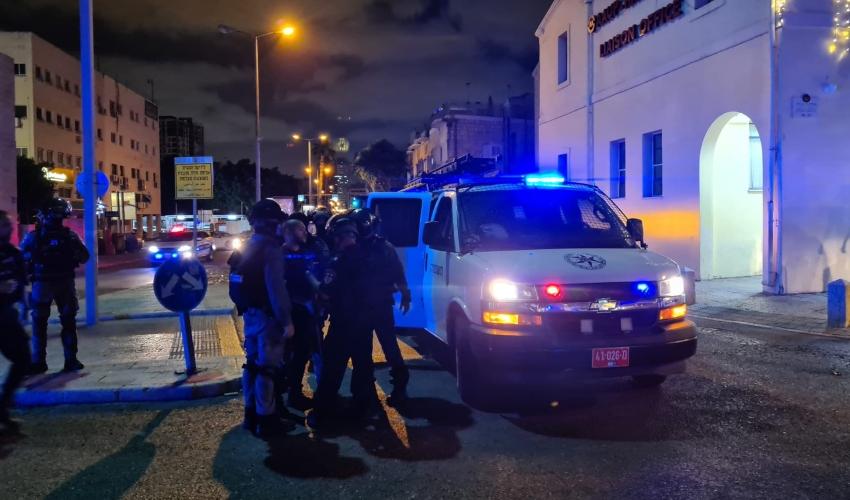 כוחות משטרה בחיפה (צילום: דוברות המשטרה)