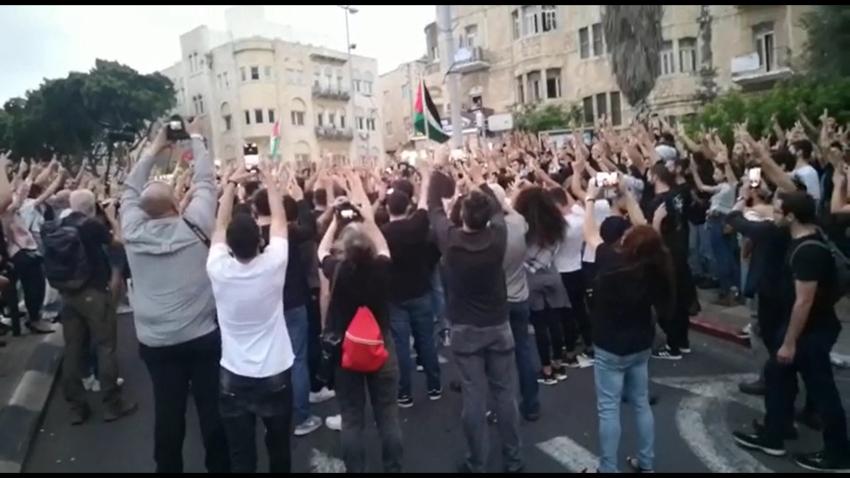 העצרת ליד מגדל הנביאים (צילום: דניאל סיגלוב)