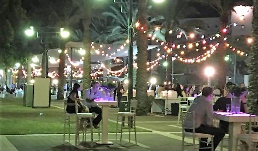 חתונה בחי פארק בקרית מוצקין (צילום: דוברות העירייה)